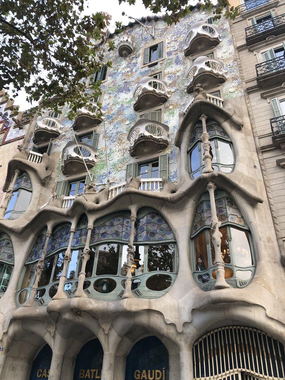 Casa Batllo. Barcelona, Spain. Antoni Gaudi