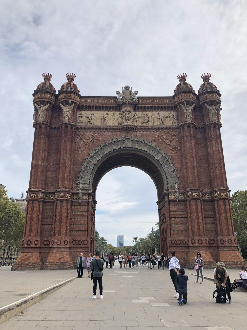Arch de Triomphe. Barcelona, Spain.