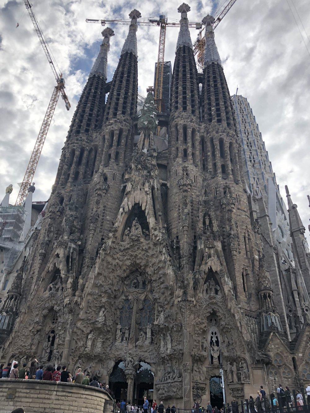 Sagrada Familia. Barcelona, Spain. Antoni Gaudi. (other side of Church)
