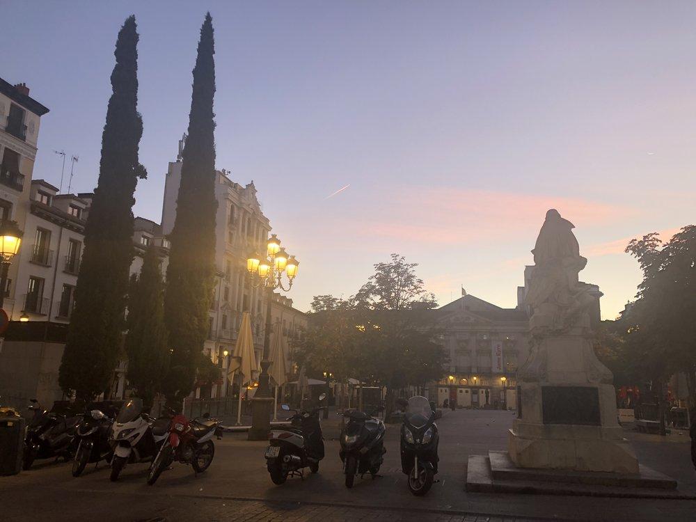 The sunrise. Madrid, Spain.