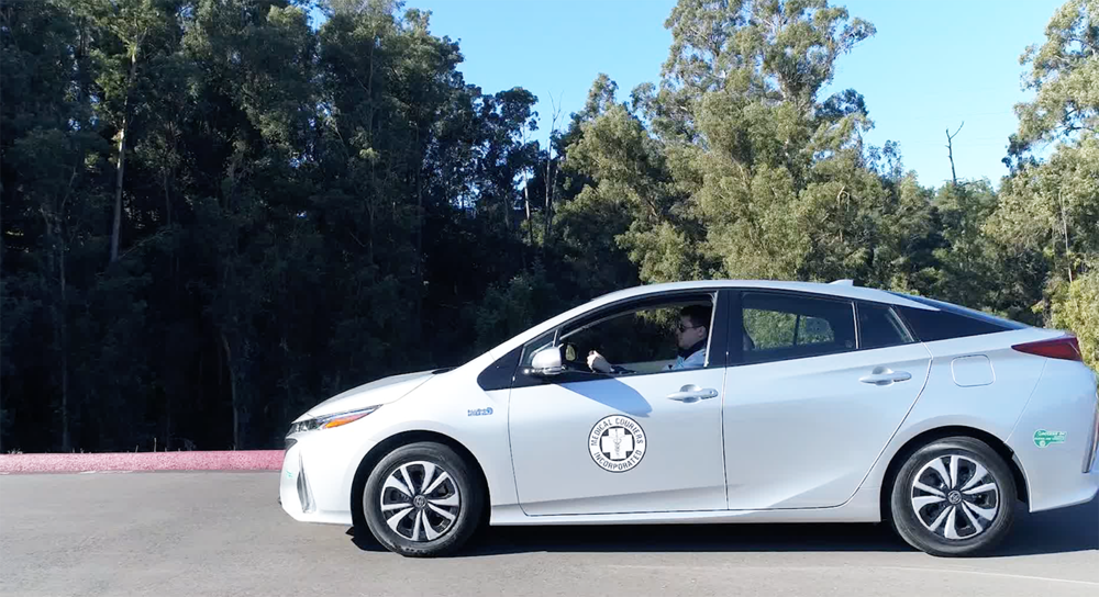 Our green fleet is stocked with high-performance Prius Primes that get 54 mpg.