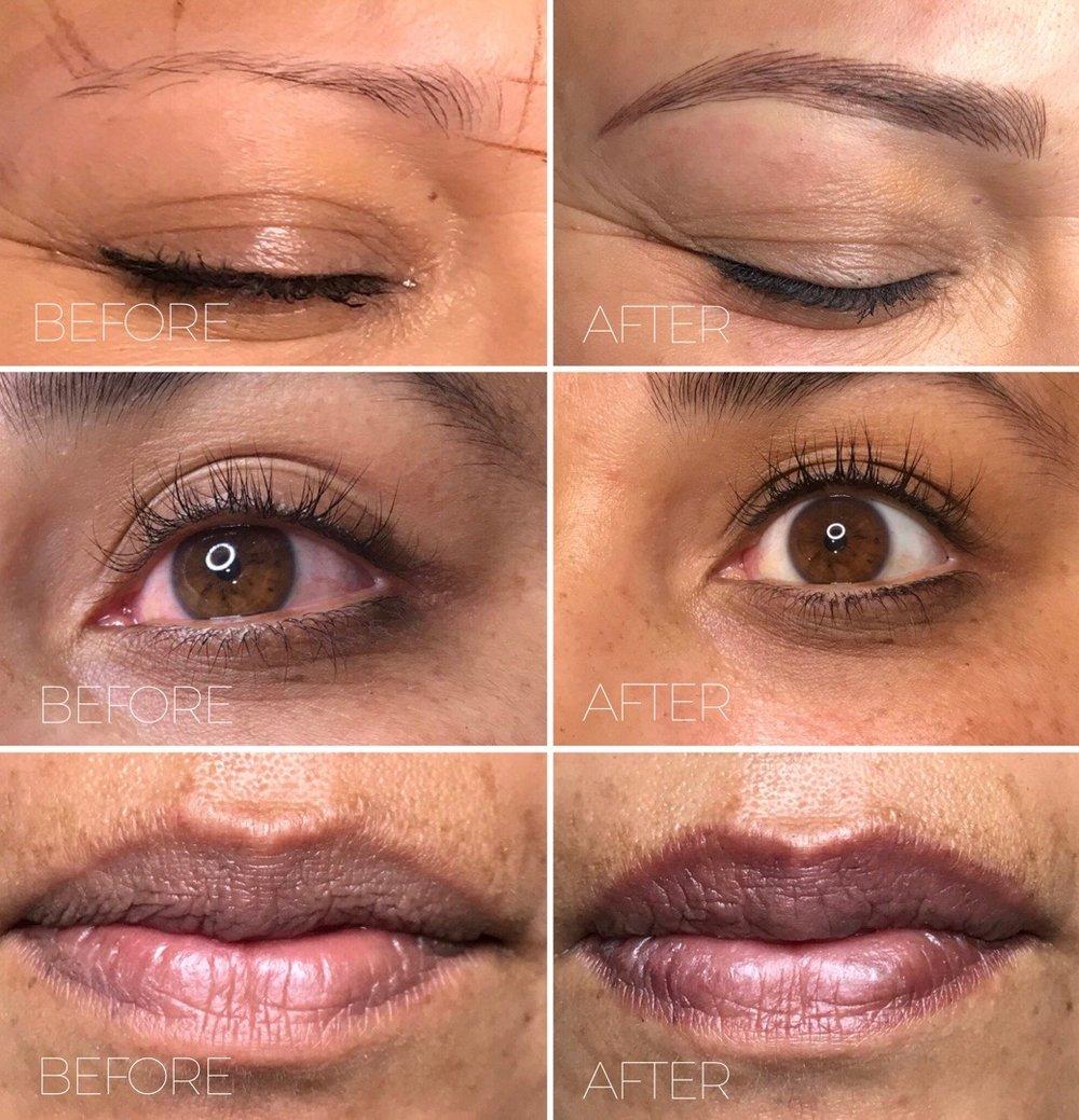 permanent makeup, lash enhancement, permanent lip color, microblading and nanoblading