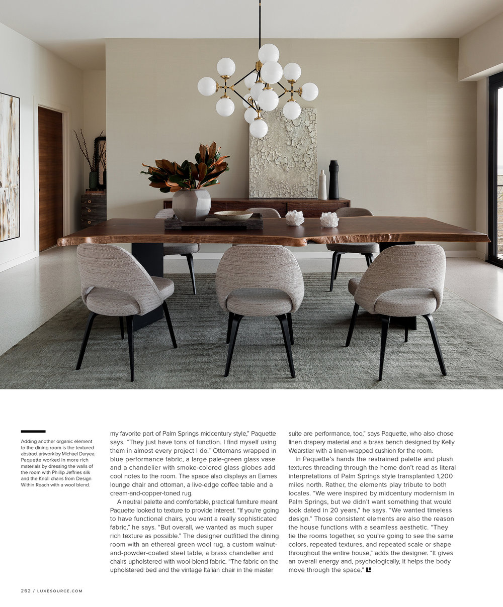 - Luxe Magazine July 2018interior design: Brian Paquettephotography: Haris Kenjar