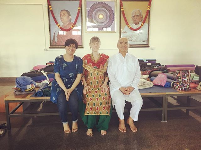 So proud of my lineage (Radhika Ponda): World's best Yogamasters: Guruji B.K.S Iyengar, Masterji S.F. Biria, Carolyn Belko