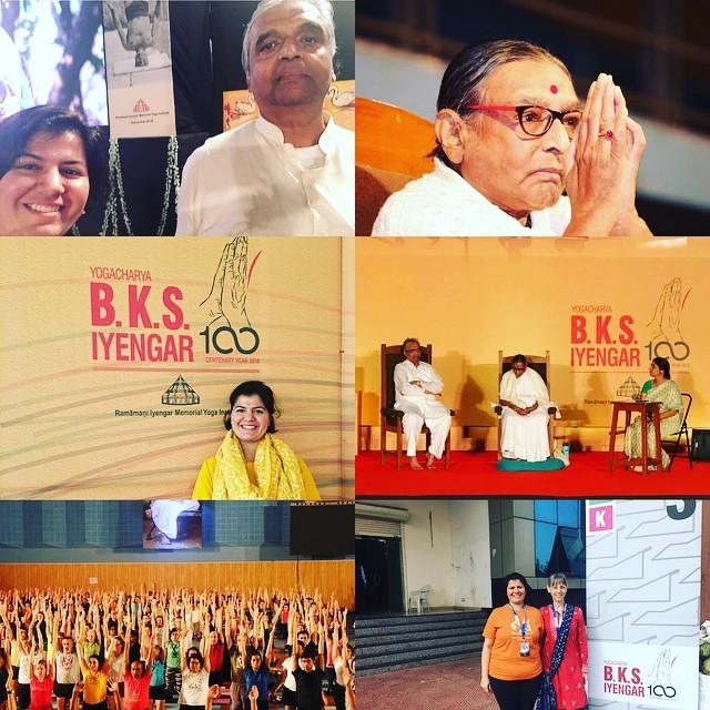 December 2018 #yoganushashanam2018 #iyengaryoga #geetaiyengar #balewadistadium #prashantiyengar #carolynbelko #abhijataiyengar #yoga