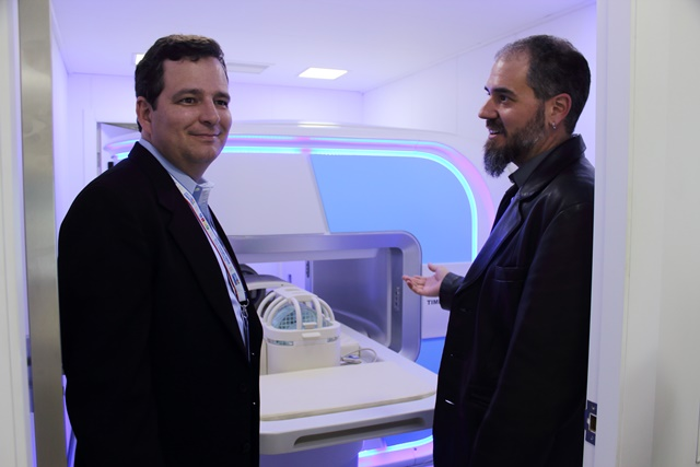 Two Clients from America Visiting the Mobile Diagnostic Imaging Vehicle