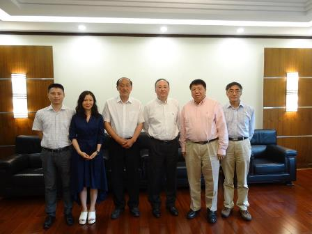 William Zheng, Tina Xu, Prof. Yanshen Liu, Governor Yin, Prof. Ma, Prof. Eric Gao (from left to right)