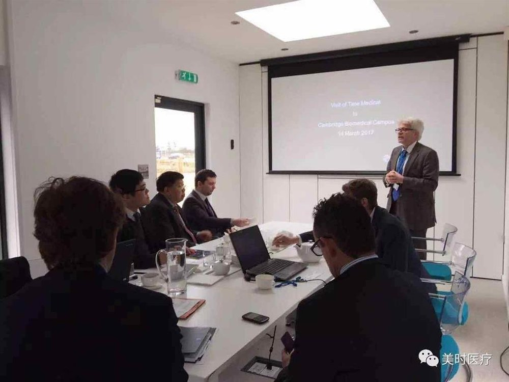 On behalf of the University, Professor Hans Hagen, COO of Biomedical Center department of Cambridge University welcomed and introduced Time Medical team biomedical research and future development of the University.