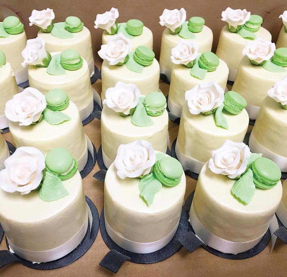 Personal cakes from Charlotte Patisserie.