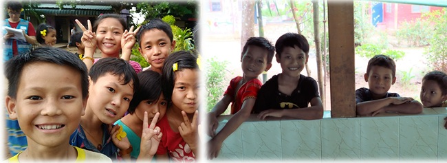 Children of Fullmoon Children Center, comes from diferent ethnic regions of Myanmar