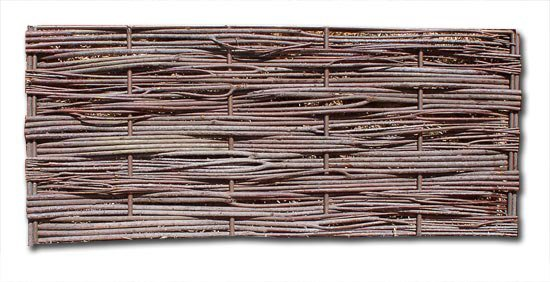 Maximum Density Quad Weave Wattle Panel with Copper Verticals
