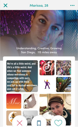 Express yourself as a whole person with our profile collage.
