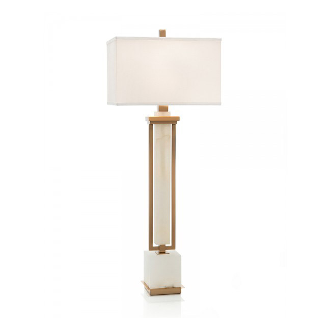 Coffee Bronze and White Alabaster Buffet Lamp.jpg