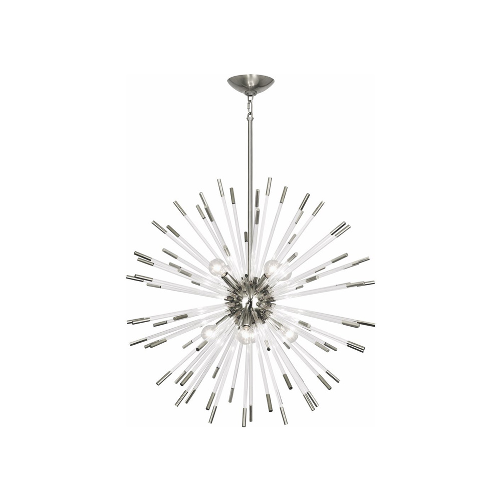Robert Abbey Andromeda Chandelier in Polished Nickel with Clear Acrylic Rods S166  copy.jpg