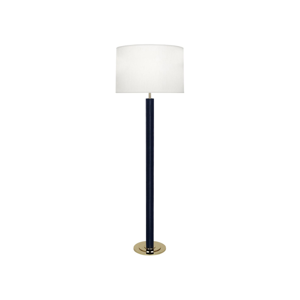 Robert Abbey Anna Floor Lamp in Faux Navy Snakeskin Wrapped Column with Polished Brass Finished Accents N893 copy.jpg