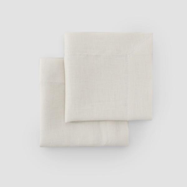 IVORY | LINEN  Size: 50 x 50 cm with 5 cm edge  IDR 7,500/per piece  Qty Available: 137 pcs