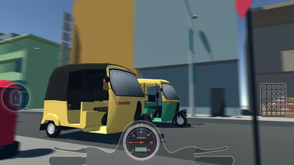 Our beloved Auto Rickshaw meeting CSR like drag racing!