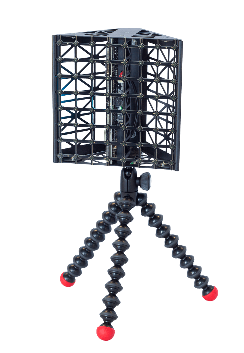 CAM64 acoustic camera on a stand