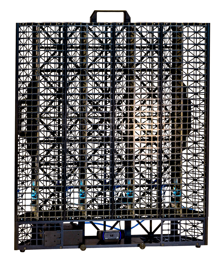 The acoustic camera CAM1K of Sorama with a microphone array of 1024 microphones used for sound analysis like holography, beamforming, nearfield, spl and many more.