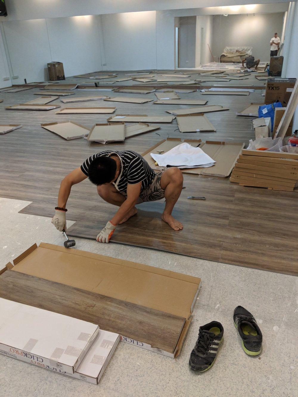 Mid June - installing flooring