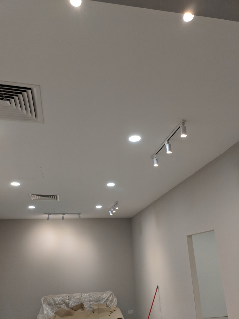 Mid June - lighting in reception area