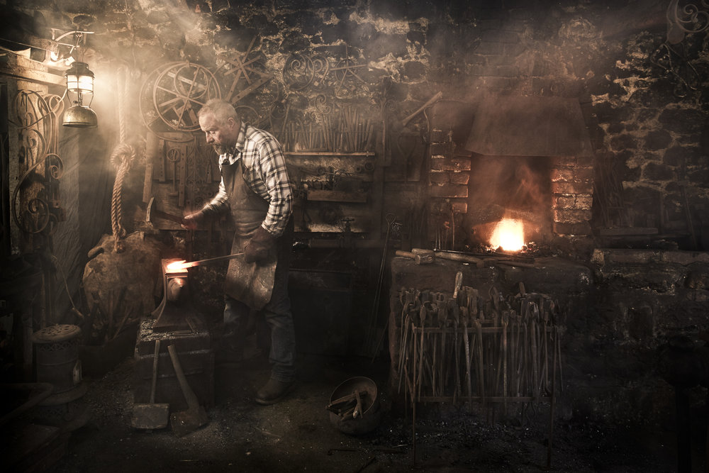 Blacksmith Greg Abel, on The Dartmoor Artisan Trail (photo: Suzy Bennett)