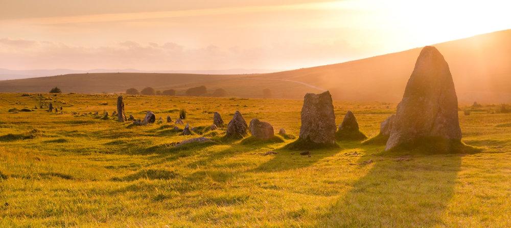Merrivale's stone row