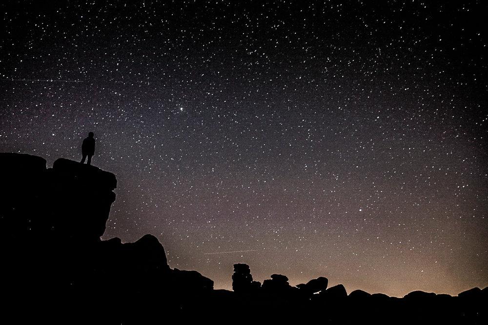 Star-gazing on Hound Tor