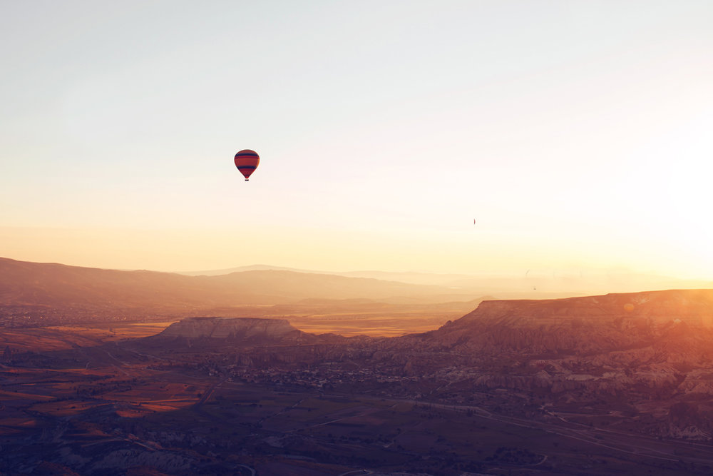 Love is in the air… on a hot-air balloon ride over Dartmoor