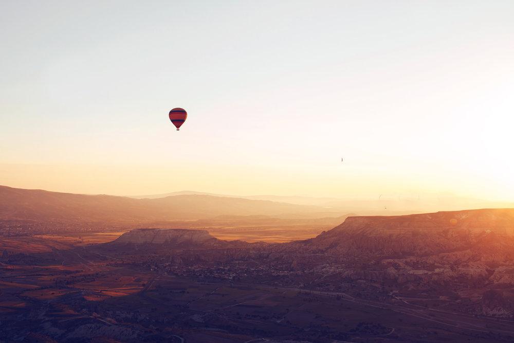 Hot air ballooning over Dartmoor