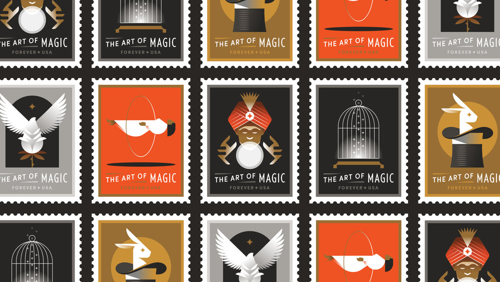 The Art of Magic Postal Stamps