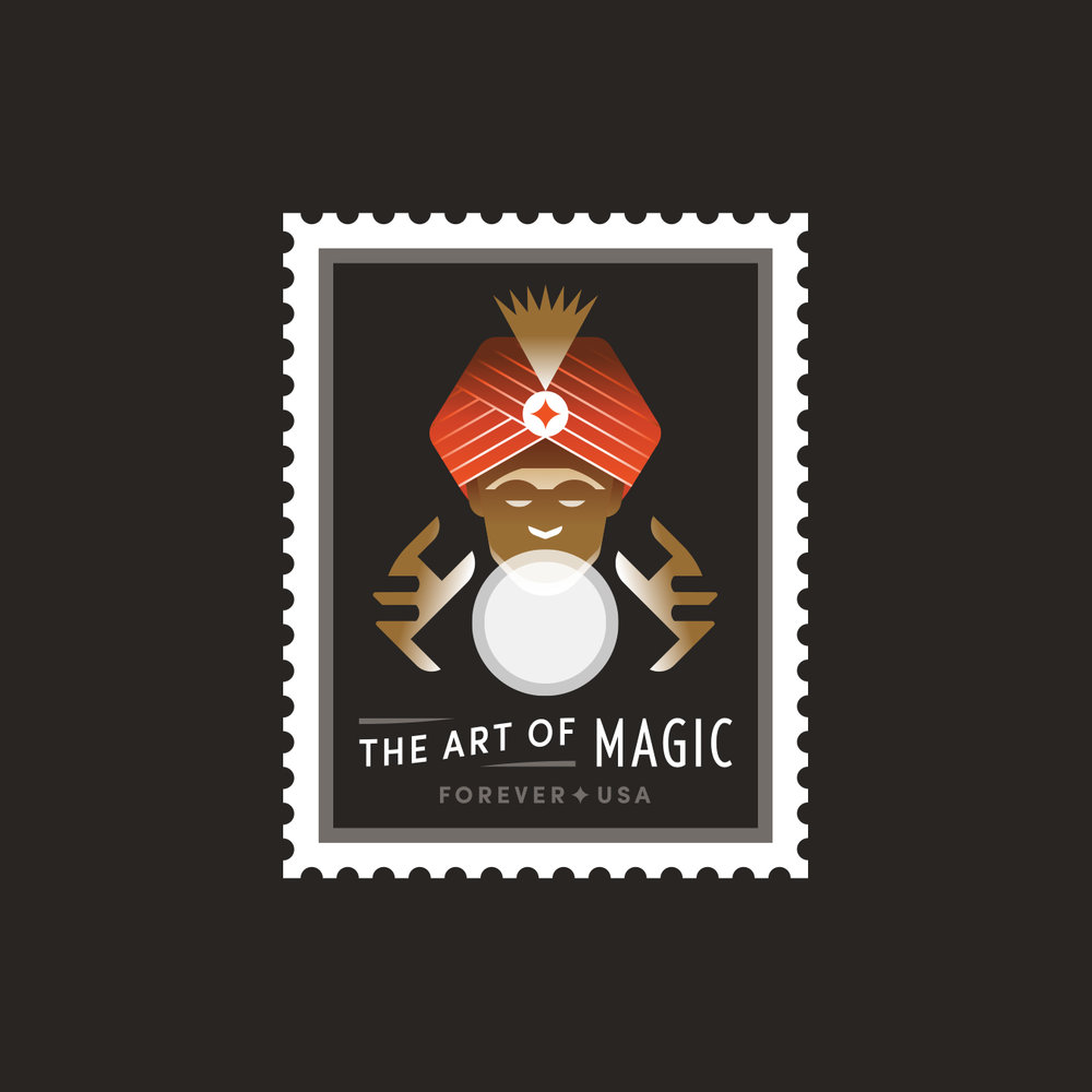 The Art of Magic Fortune Teller Stamp