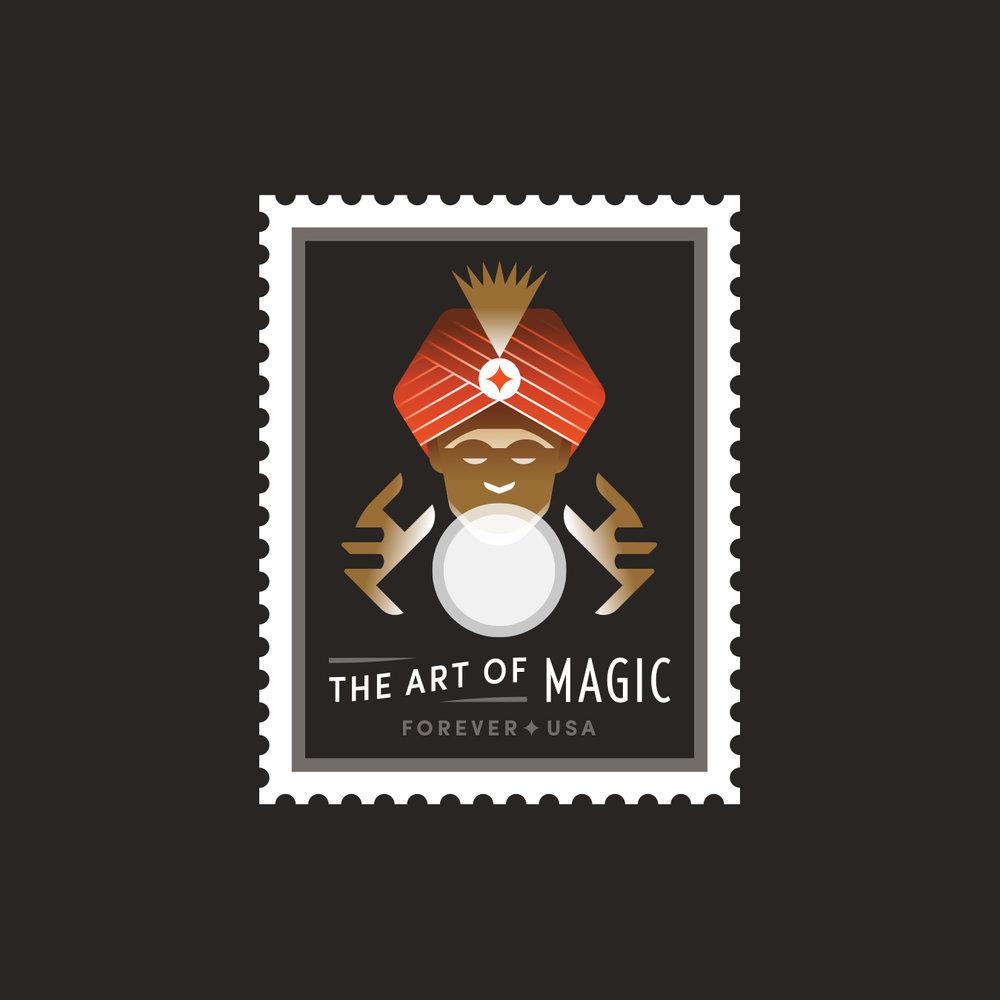 The Art of Magic Fortune Teller Stamp