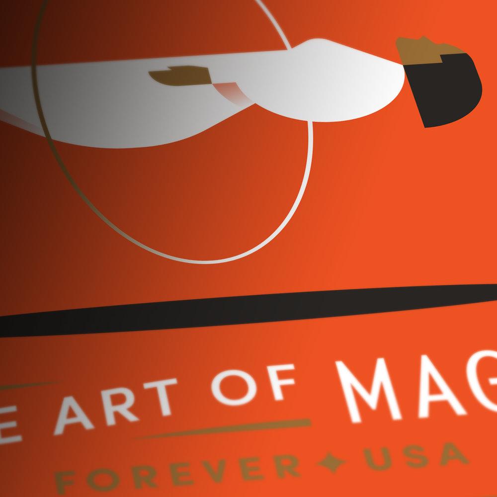 The Art of Magic Levitating Woman Stamp Detail