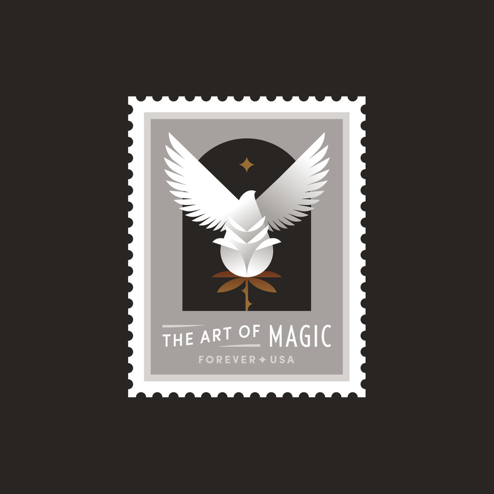 The Art of Magic Rose Dove Stamp