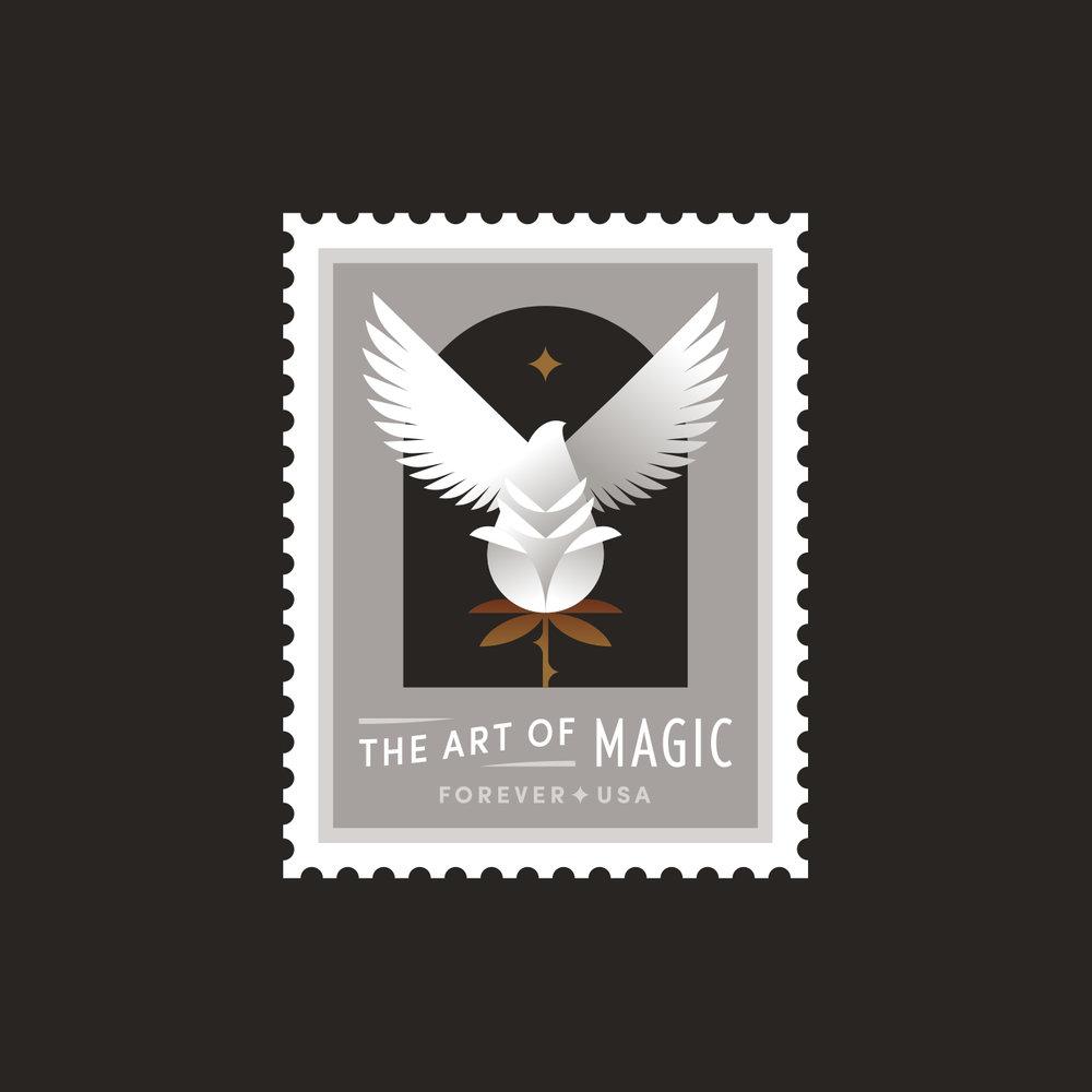 The Art of Magic Rose Dove Stamp