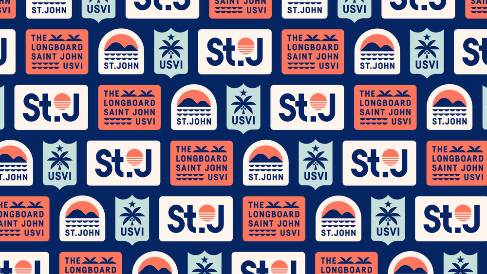 The Longboard Saint John USVI Stickers