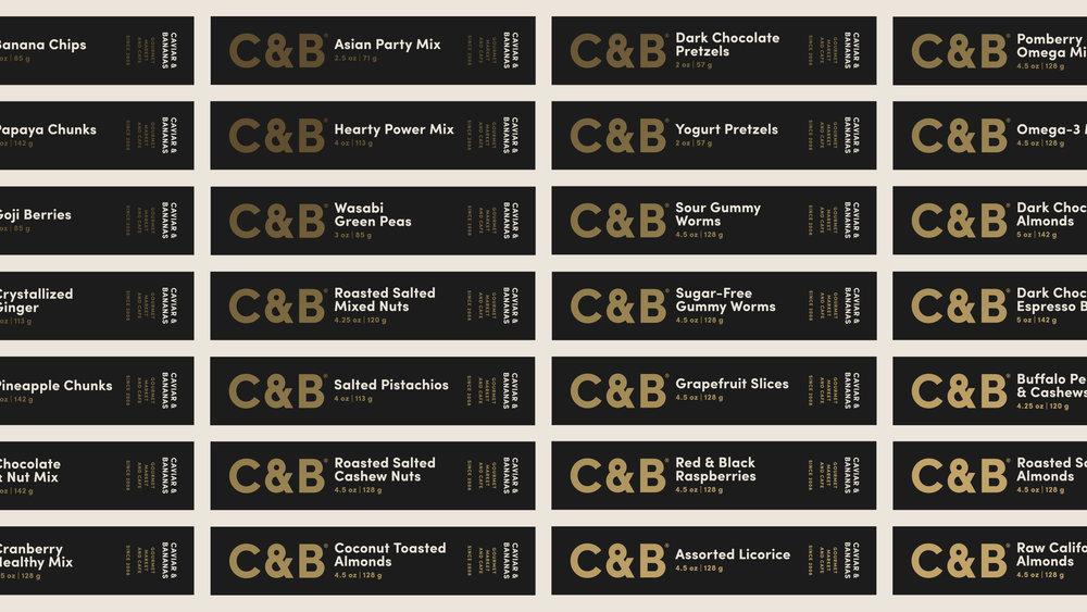 Caviar & Bananas Packaging Labels