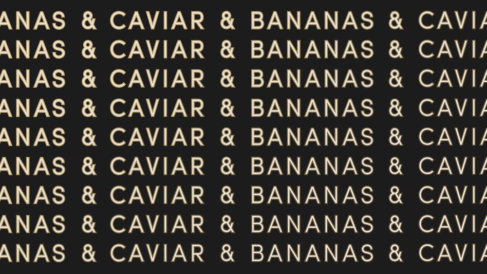 Caviar & Bananas Repeated Logo
