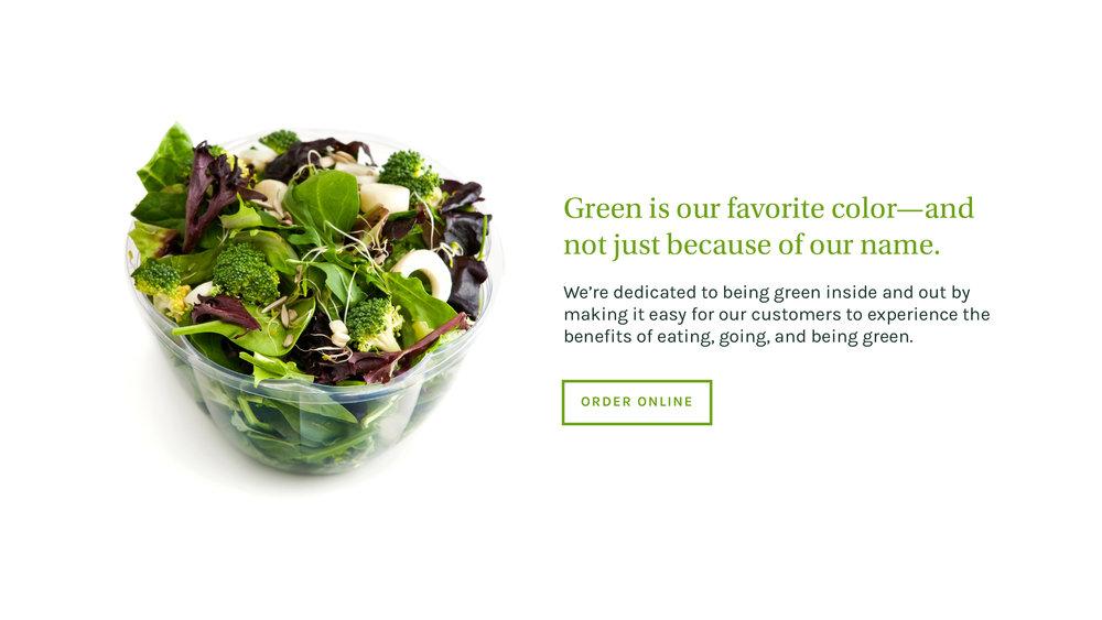 Verde Salad Restaurant Website Detail