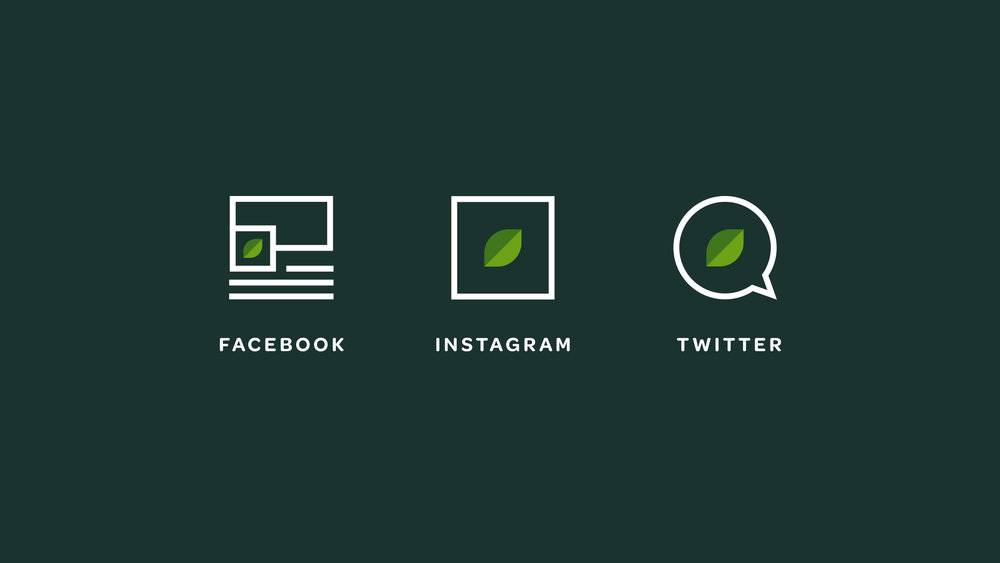 Verde Salad Restaurant Social Media Icons