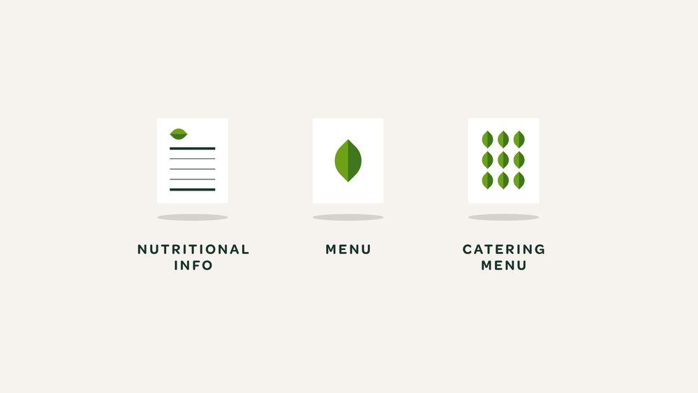 Verde Salad Restaurant Menu Icons
