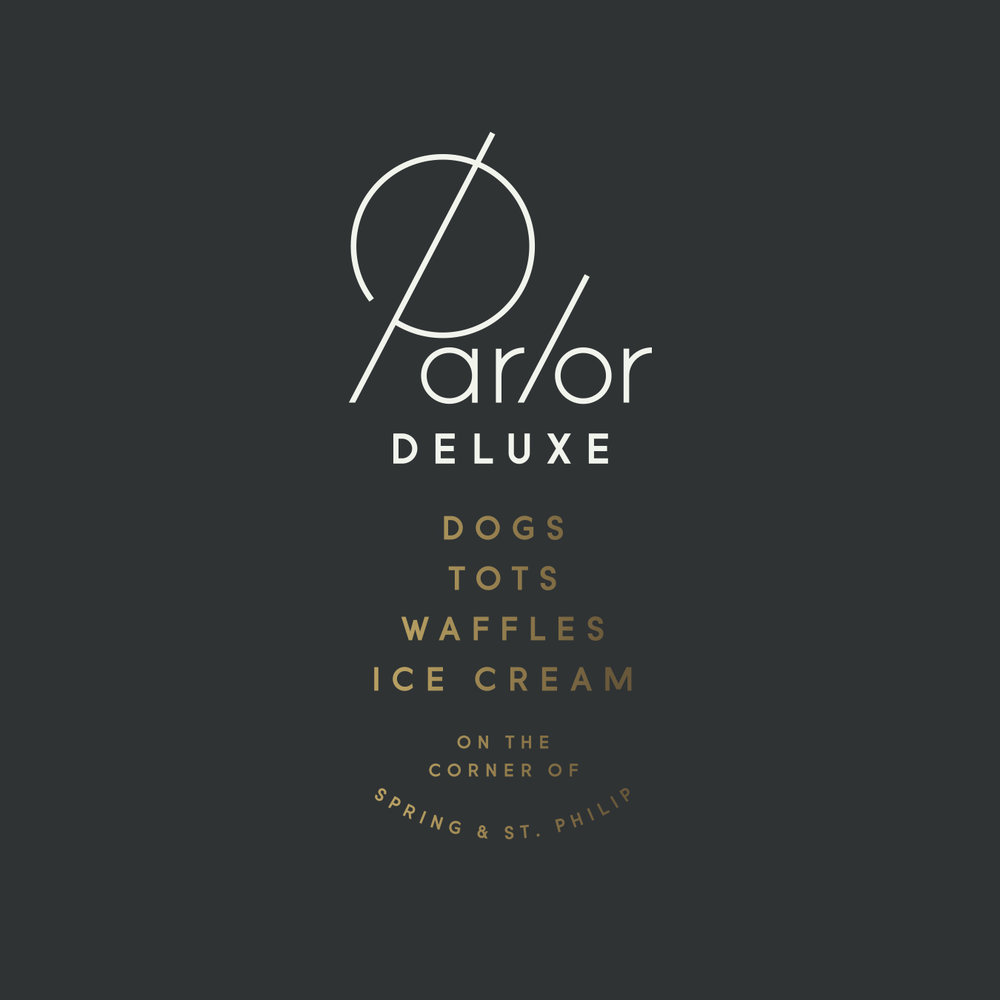 Parlor Deluxe Stacked Logo