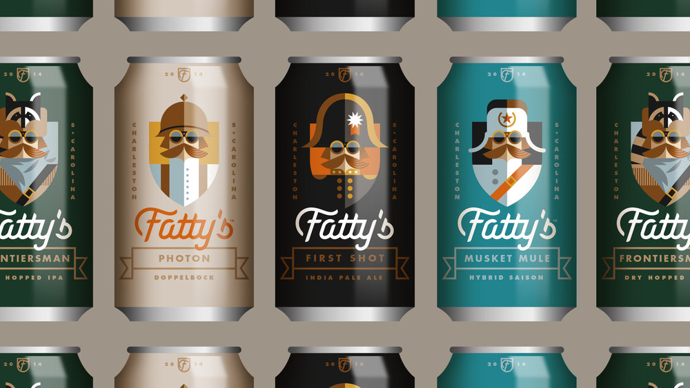 Fatty's Beer Works Can Designs