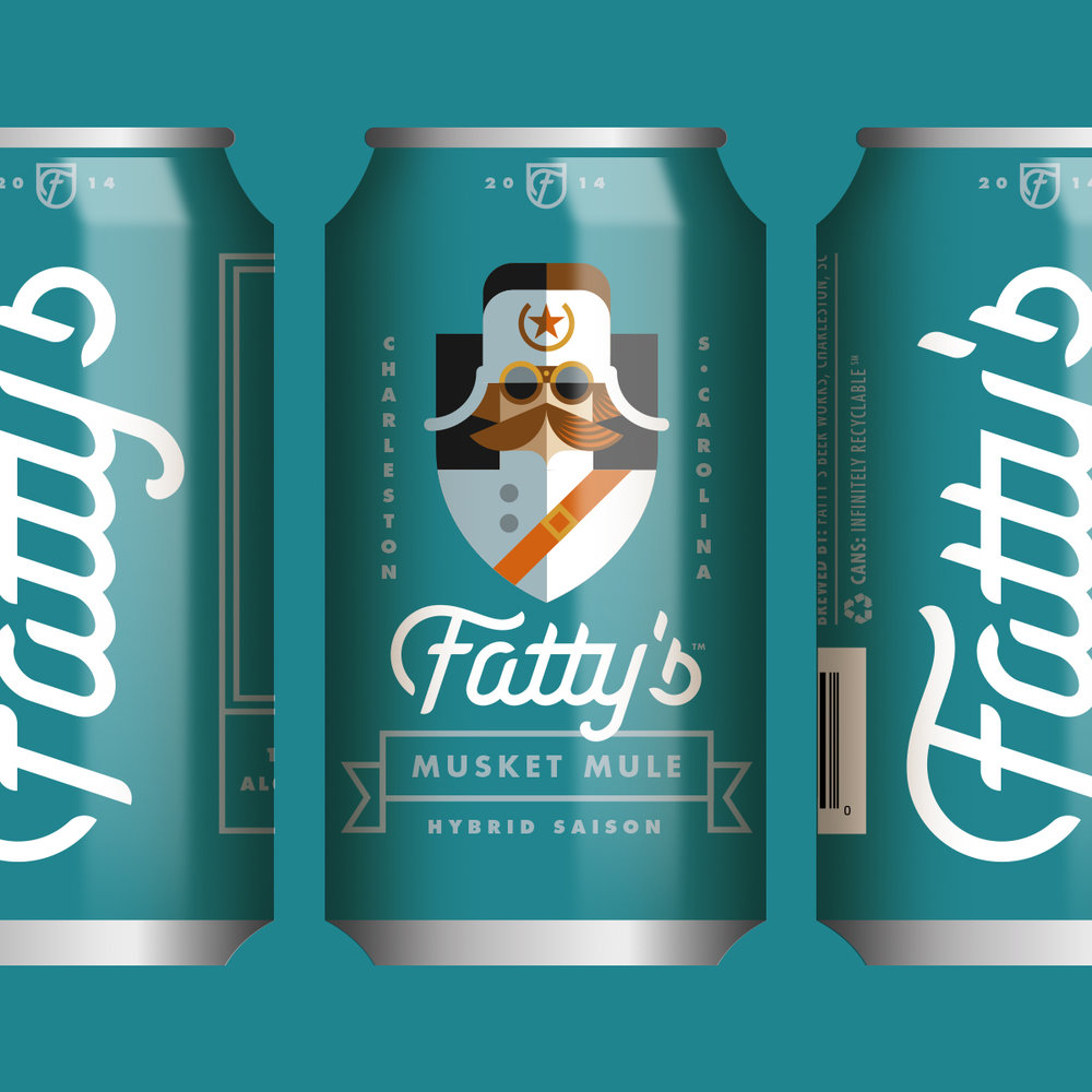 Fatty's Beer Works Musket Mule Can Design