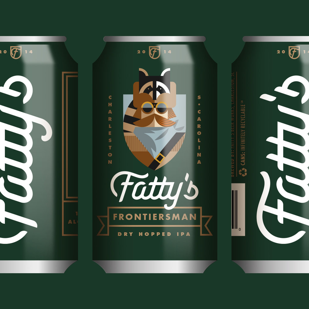 Fatty's Beer Works Frontiersman Can Design