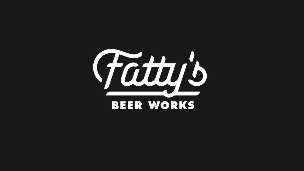 Fatty's Beer Works Script Logo