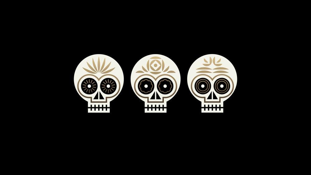 El Thrifty Restaurant Skull Logos