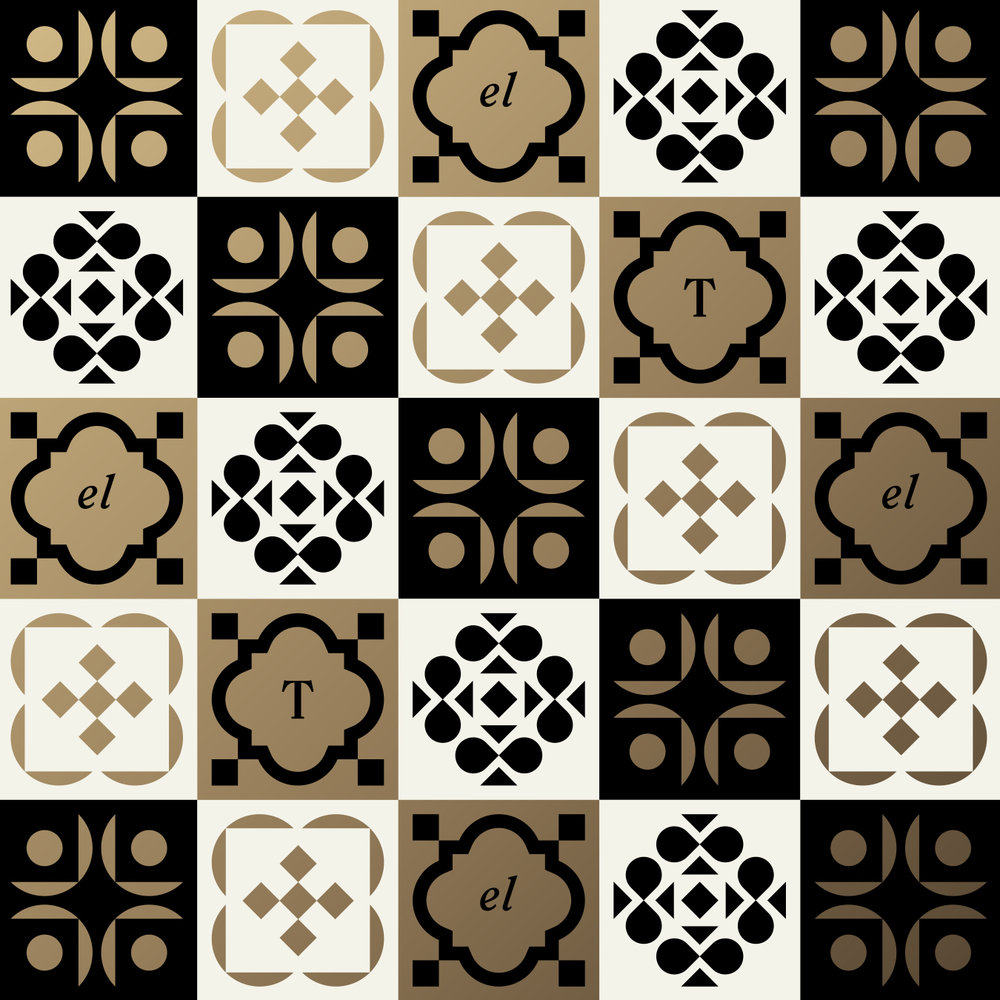 El Thrifty Restaurant Tile Pattern