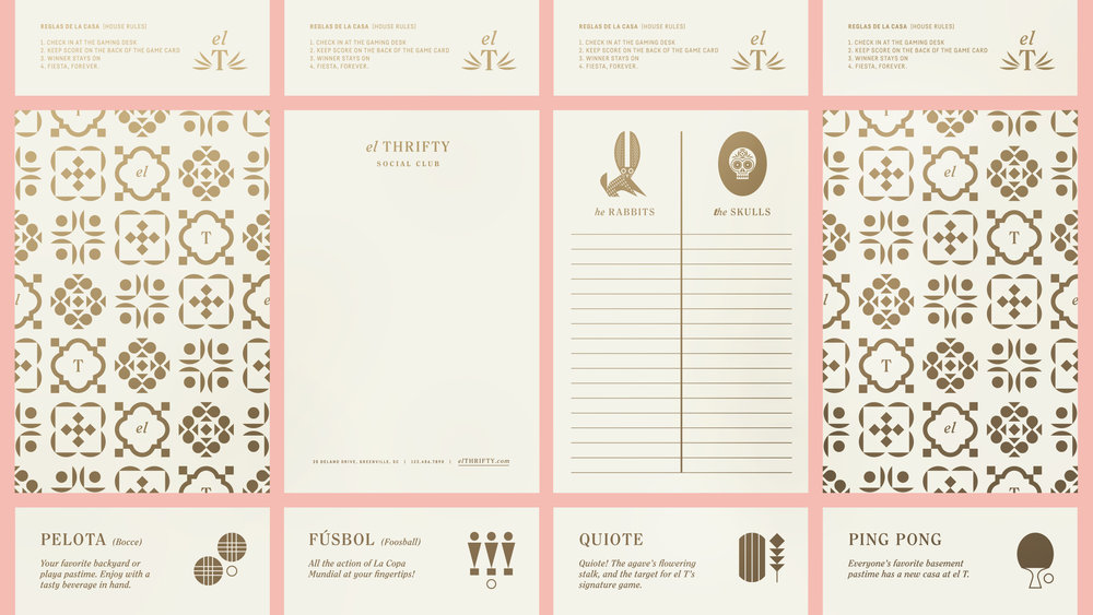 El Thrifty Restaurant Gaming Cards and Stationary Design